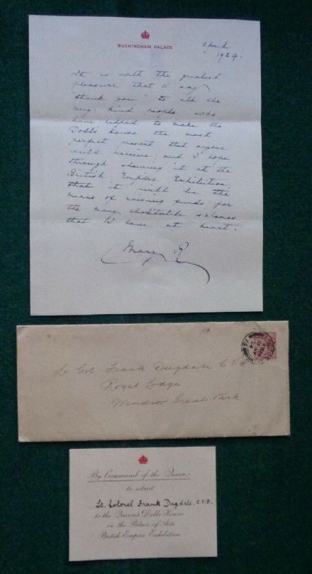 Antique Invitation to Queen Mary's Dolls' House British Empire Exhibition 1924